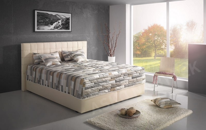 postel boxspring levit 180x200 asko n bytek. Black Bedroom Furniture Sets. Home Design Ideas