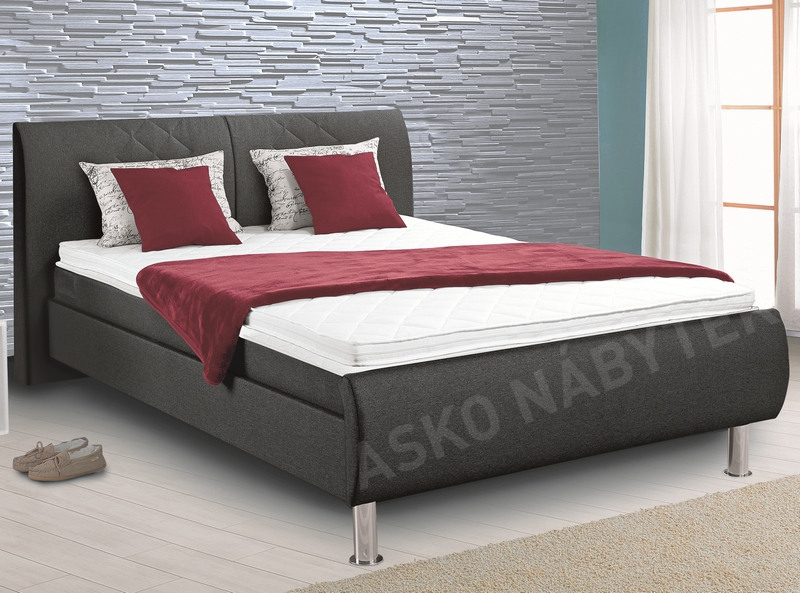 postel boxspring leo 140x200 asko n bytek. Black Bedroom Furniture Sets. Home Design Ideas