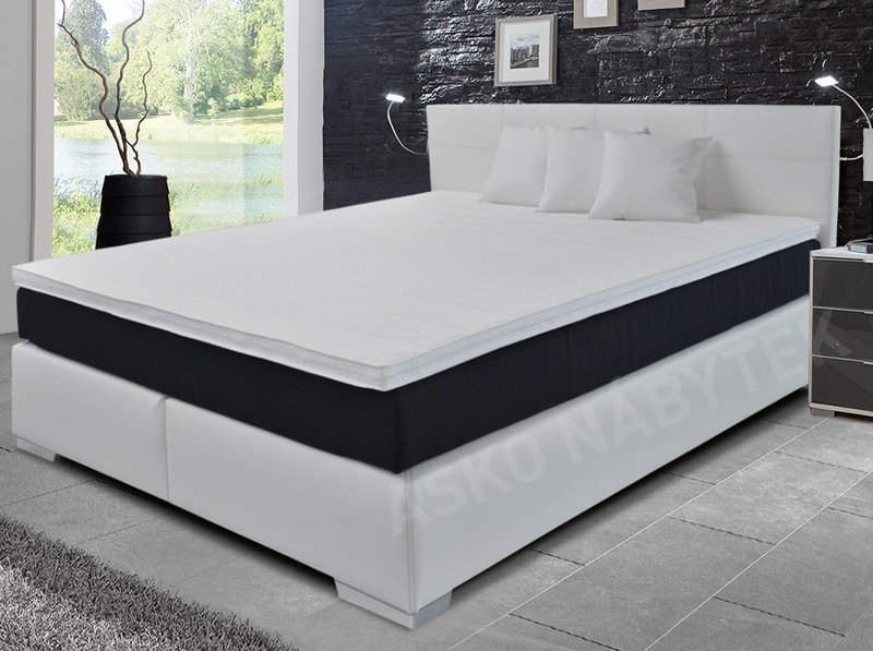 postel boxspring livorno 180x200 cm b l ekok e asko n bytek. Black Bedroom Furniture Sets. Home Design Ideas