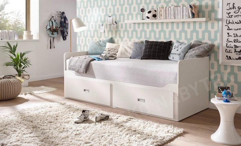 6bdd764db286 ... Rozkládací postel se zásuvkami Bergen 80x200 cm ...