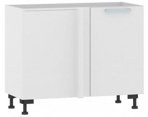 Levně Dolní rohová kuchyňská skříňka One ES99R, pravá, bílý lesk, šířka 110 cm