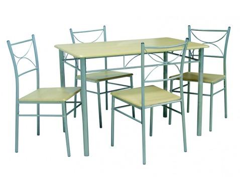 Jídelní set 4+1, stul:110x76x70 cm,židle:43x85x40 cm
