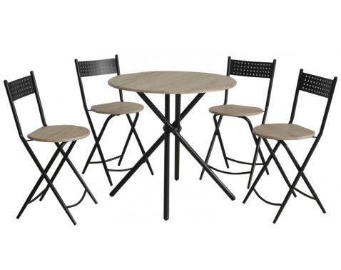 Jídelní set Stul: 80x77 cm, židle: 42x44x83 cm