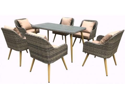 Jídelní set zahradního nábytku Tropicana (7 dílů)