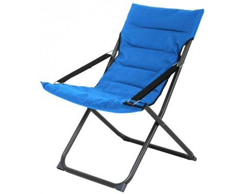 Levně Skládací zahradní židle Bibione, modrá