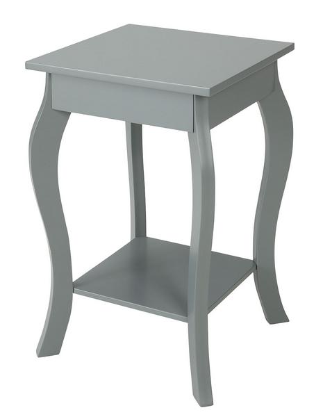 Odkládací stolek Figure, šedý