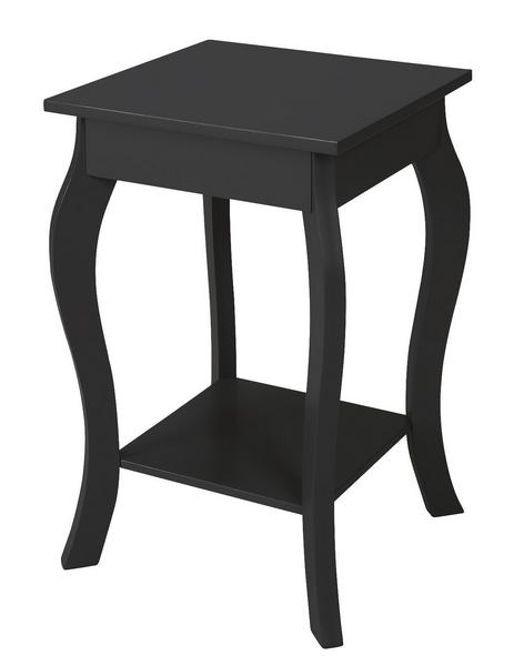 Odkládací stolek Figure, černý