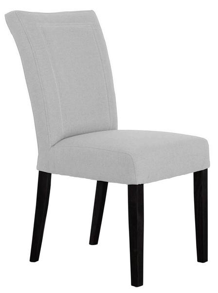 Jídelní židle Zena, bledě šedá tkanina