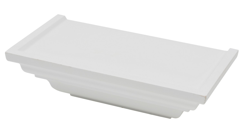 Police na stěnu Duraline Classic 25 cm, bílá
