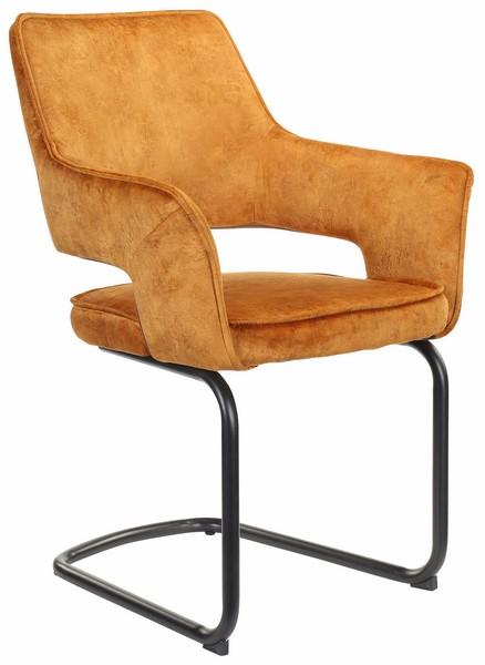 Jídelní židle Hudson, žlutá látka