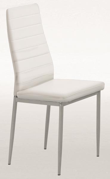 Jídelní židle Simone, bílá ekokůže