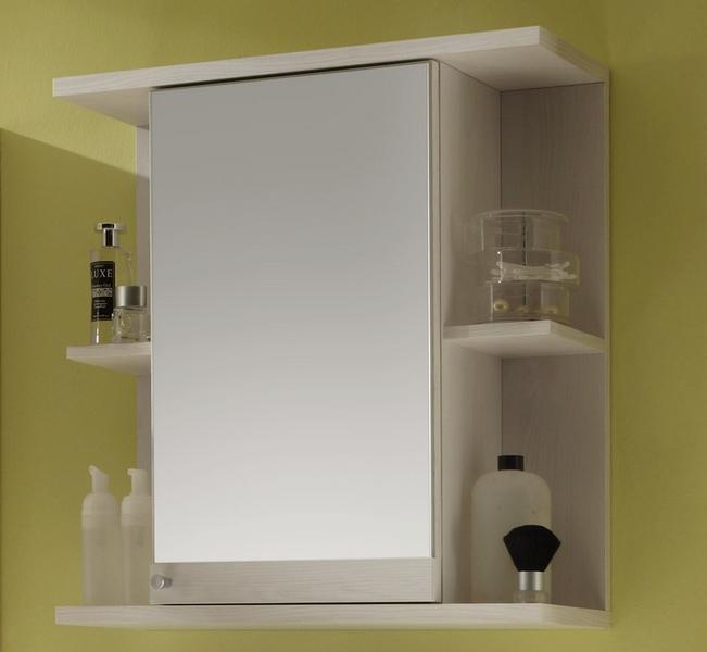 Koupelnová skříňka se zrcadlem Poseidon, bělený modřín