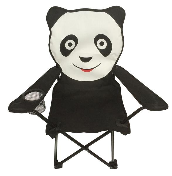 Dětské křeslo Panda, černo-bílé