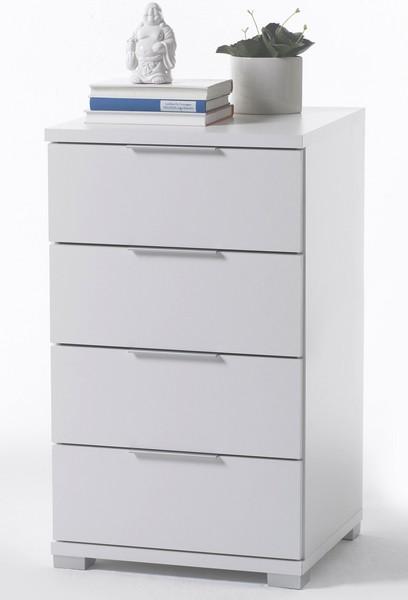 Vysoký noční stolek/skříňka Samson Plus, bílý