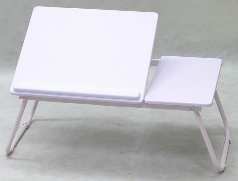 Polohovatelný přenosný stolek Laptop, bílý