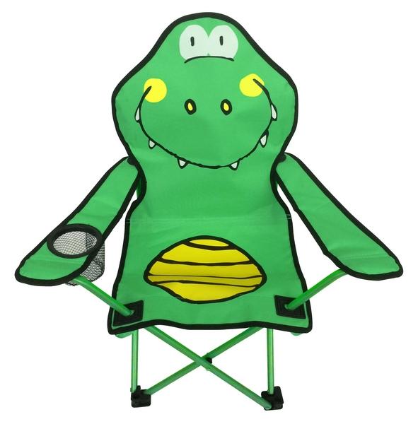 Dětské křeslo Krokodýl, zeleno-žluté
