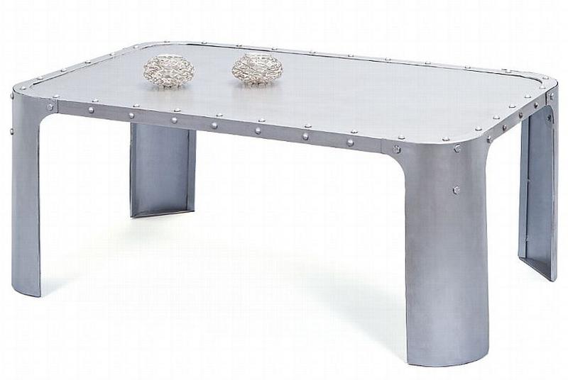 Konferenční stolek Gormur, šedý vintage povrch
