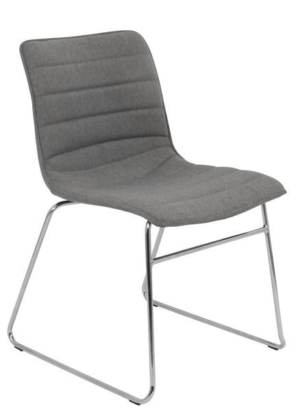 Jídelní židle Rudul, šedá látka
