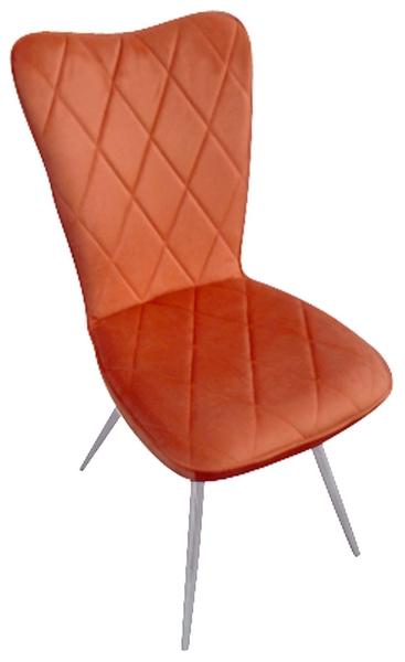 Jídelní židle Erdufis, oranžová látka