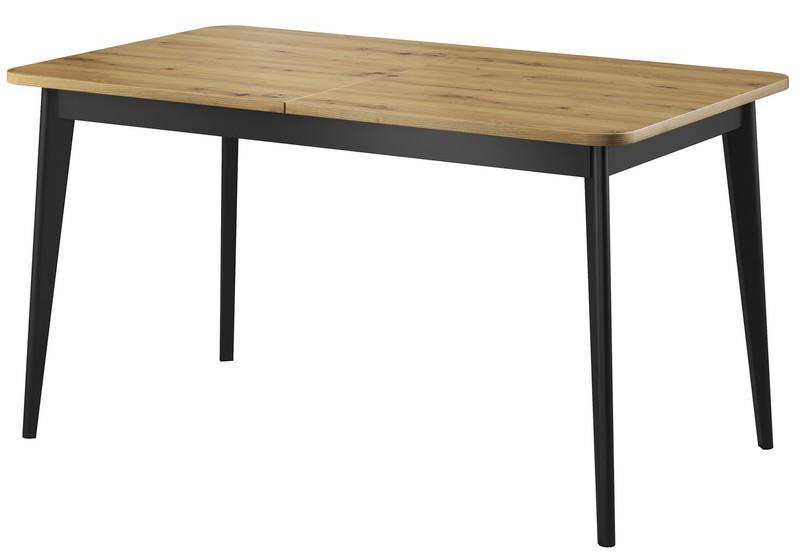 Rozkládací jídelní stůl Nordi 140x80 cm, dub artisan