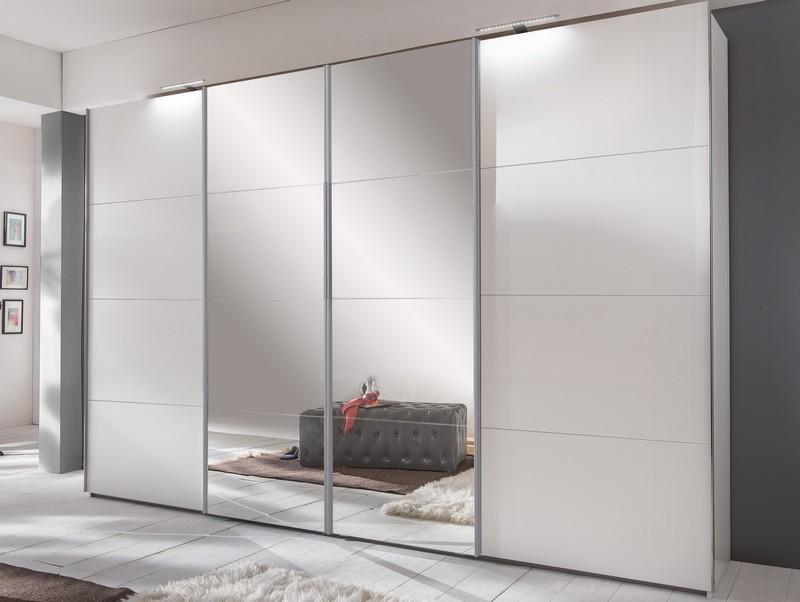 Šatní skříň Brüssel, bílá/zrcadlo