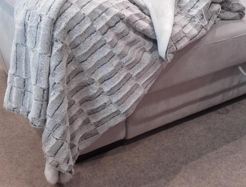 Deka FOX 140x200 cm, šedo-bílá