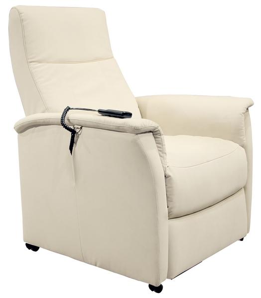 Relaxační TV křeslo Asko 4312 MS120L1, světle béžová ekokůže