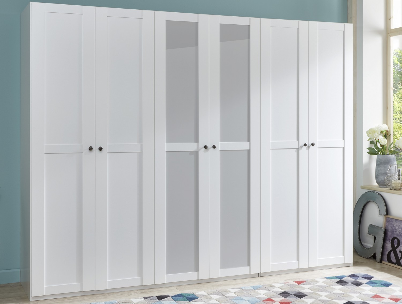 Šatní skříň se zrcadlem New York B, 270 cm, bílá