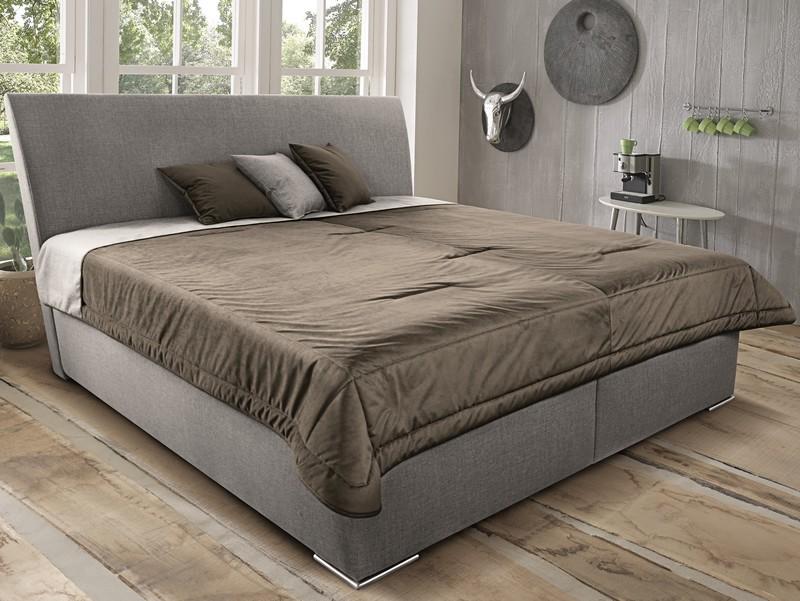 Postel Monte 160x200 cm, béžová tkanina/deka/polštáře