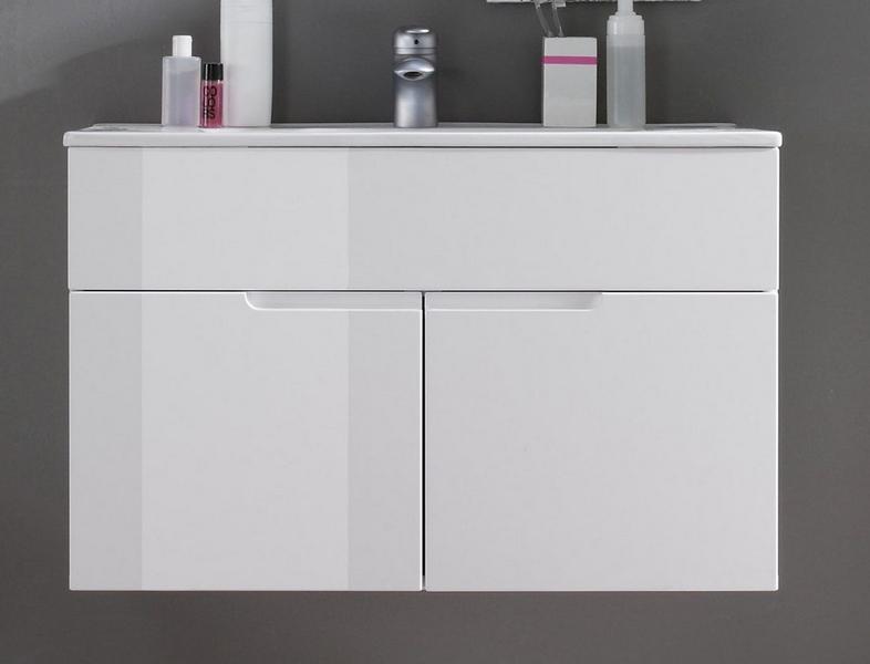 Koupelnová skříňka s umyvadlem Spice, lesklá bílá