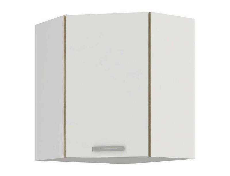 Horní rohová kuchyňská skříňka Latte 60/60NAR, bílý lesk, šířka 60 cm