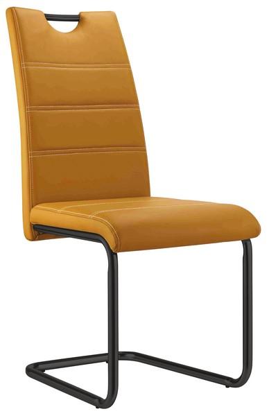 Jídelní židle Queens, žlutá ekokůže