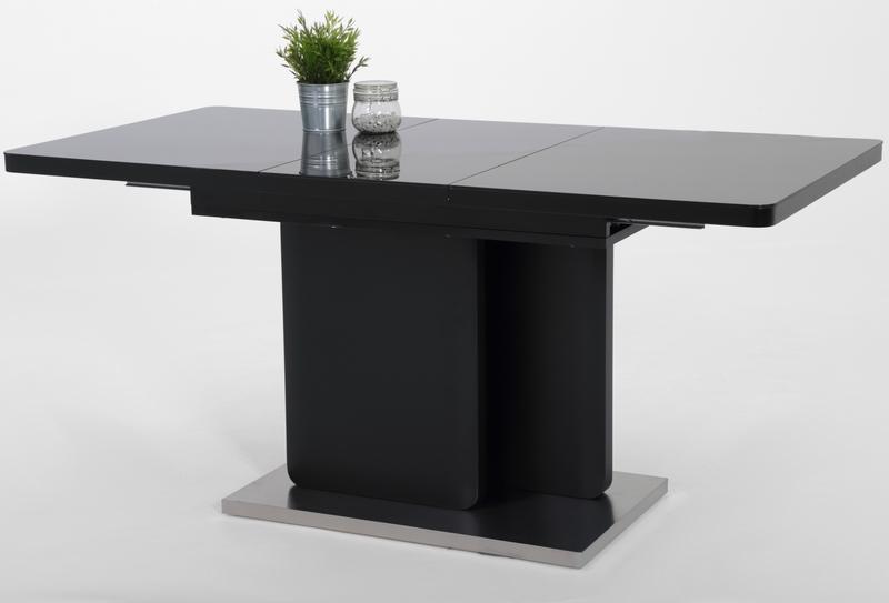Jídelní stůl Madison 1, 180x80 cm, černý/sklo