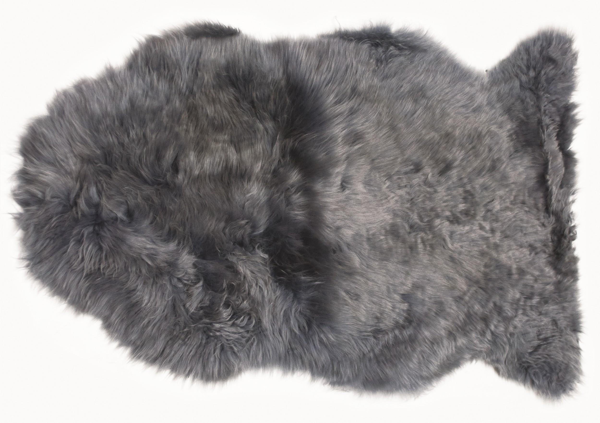 Pravá ovčí kůže 60x90 cm, šedá