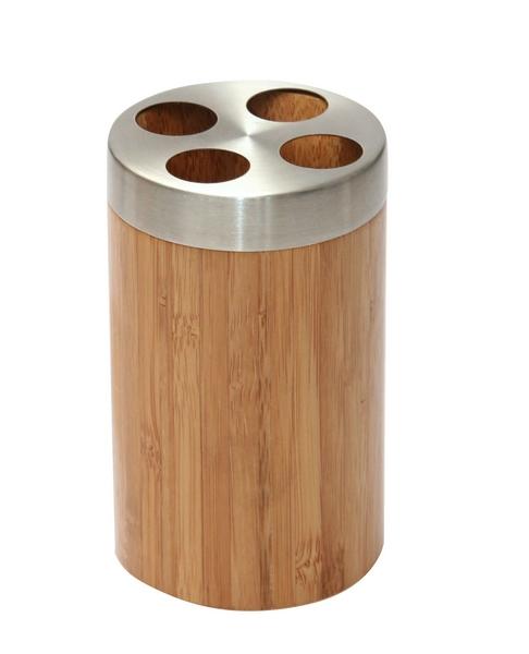 Koupelnový držák na kartáčky Bonja 282331, bambus/kov