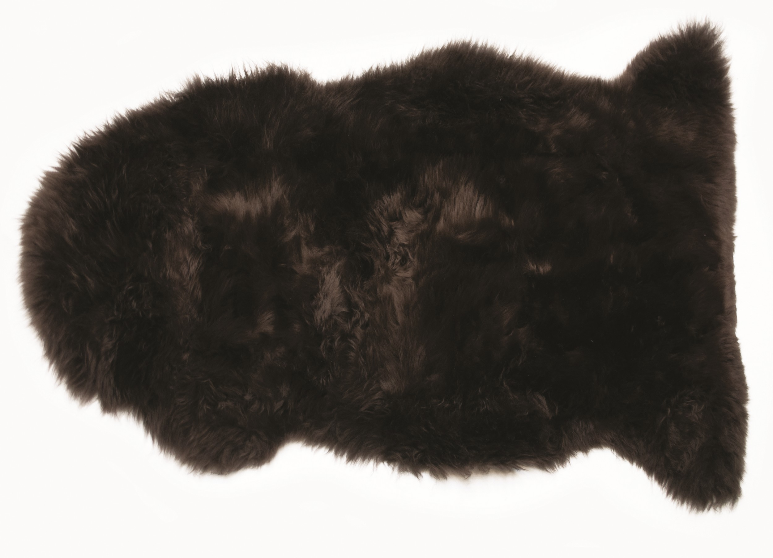Pravá ovčí kůže 60x90 cm, čokoládová