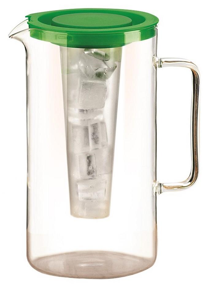 Džbán na vodu 2 l, zelený, s vložkou na led